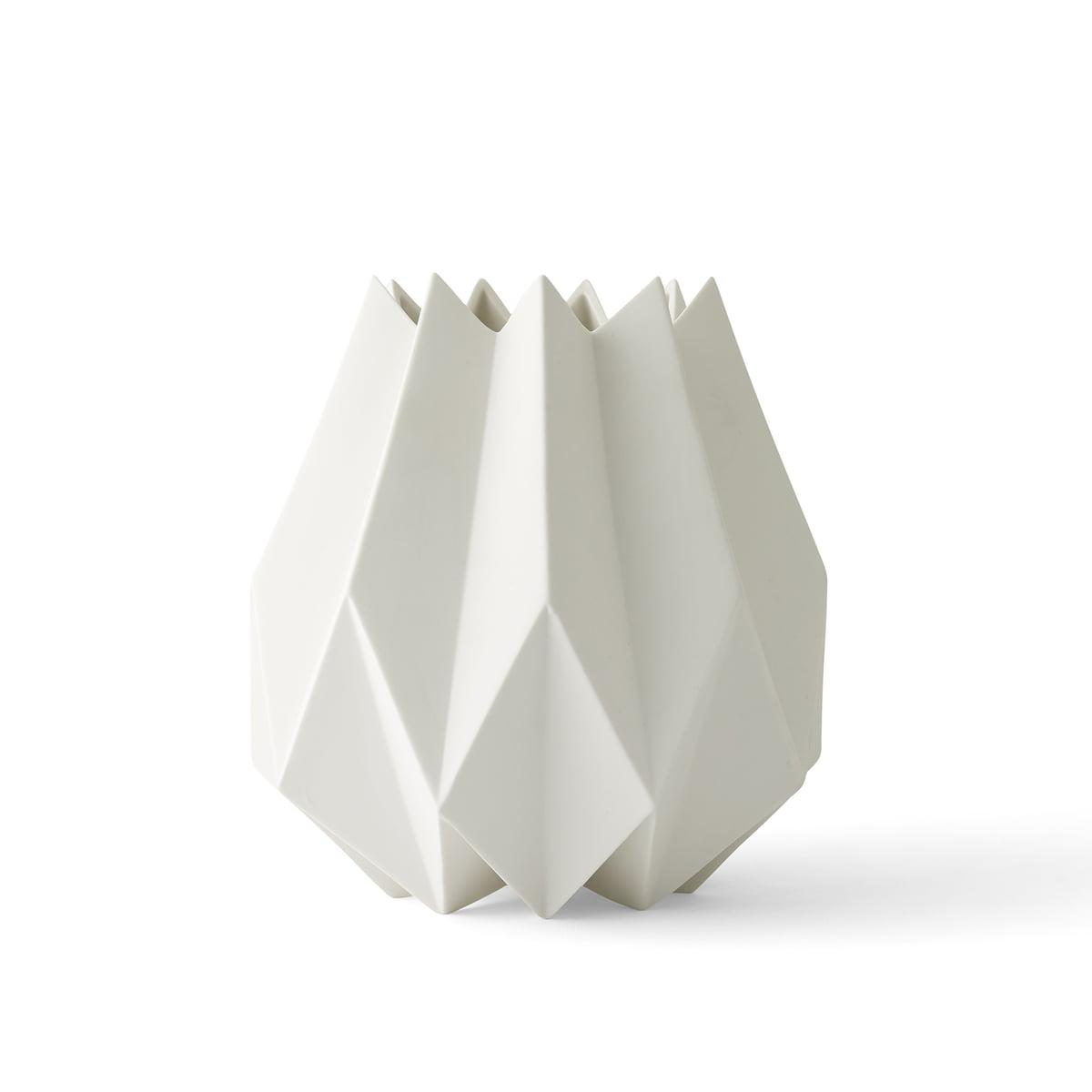 Menu folded vase weiss gross freisteller