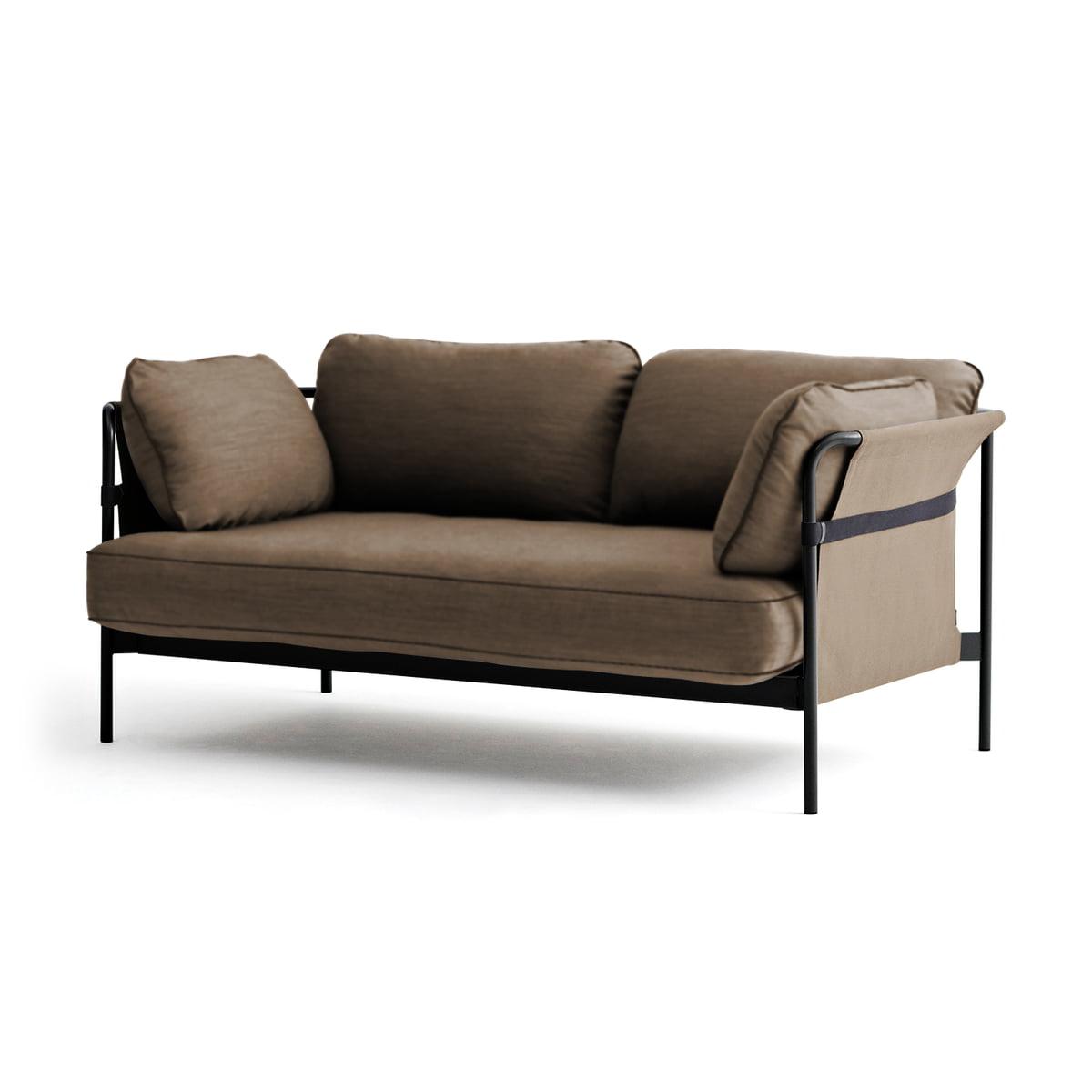Hay can sofa 2 sitzer schwarz canvas army canvas arm