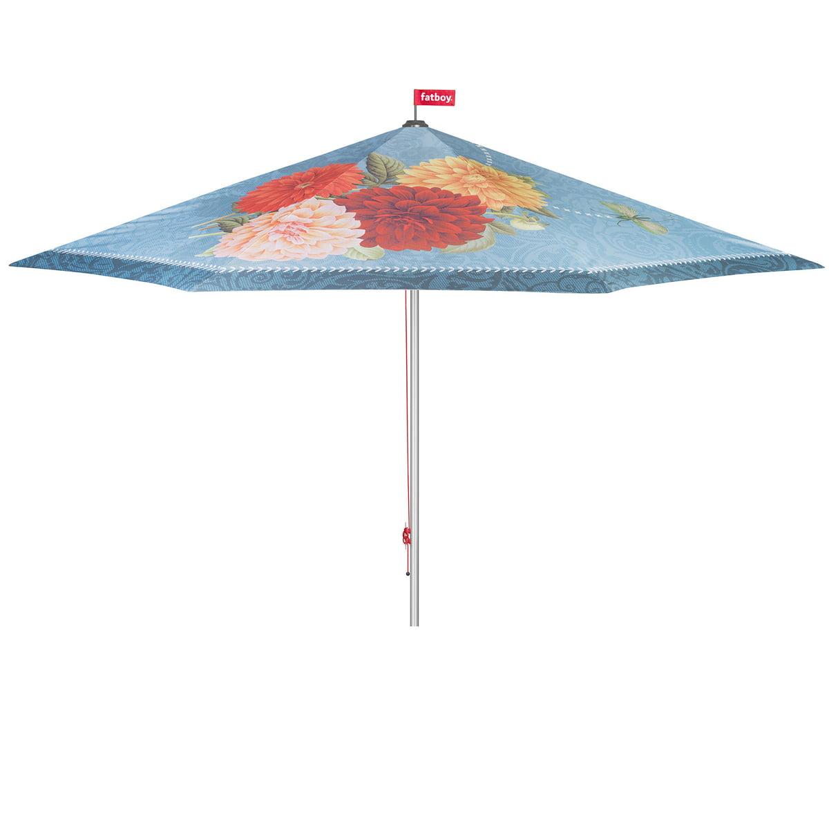 Fatboy parasolasido sonnenschirm blau blumen artikelbild ohne fuss freisteller