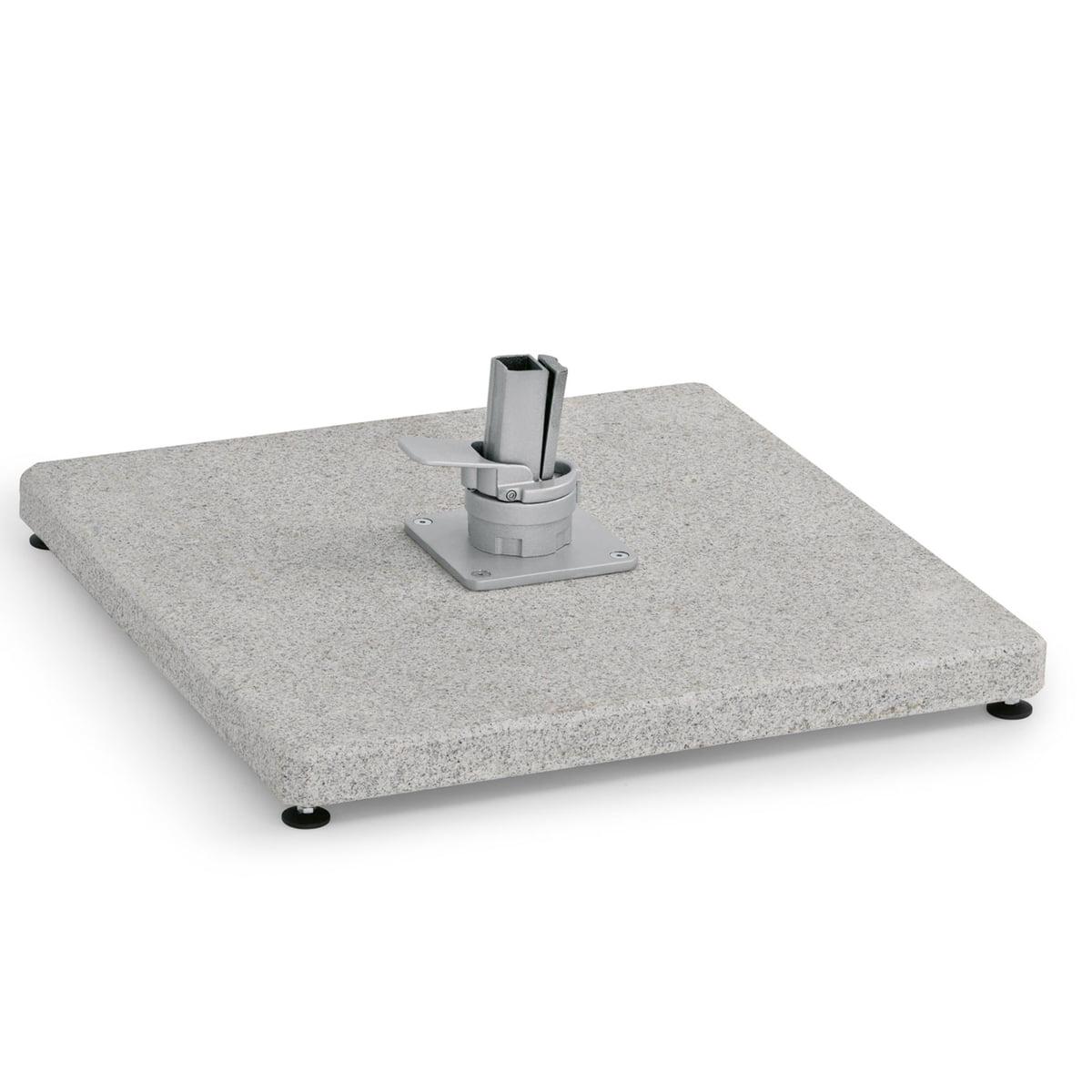 Weishäupl - Schirmständer Bodenplatte für Freiarmschirm, granit | Garten > Sonnenschirme und Markisen > Sonnenschirmständer | Weishäupl