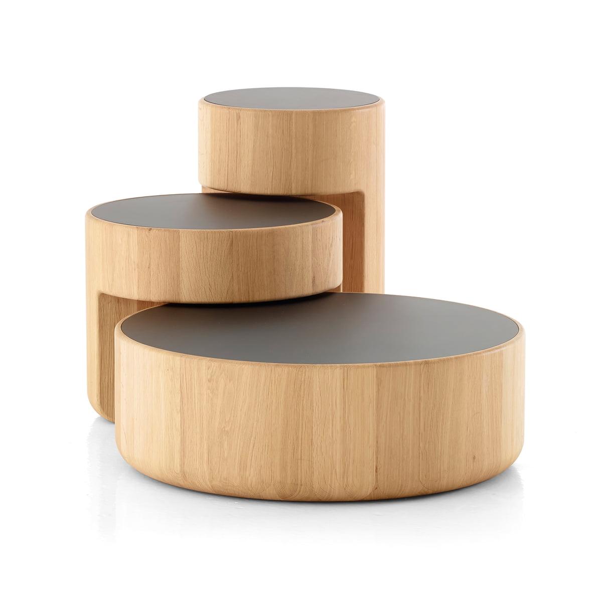 Peruse - Levels Satztische, 3er-Set, Eiche geölt / schwarz (RAL 9005) | Wohnzimmer > Tische > Satztische & Sets | Eiche geölt | Peruse