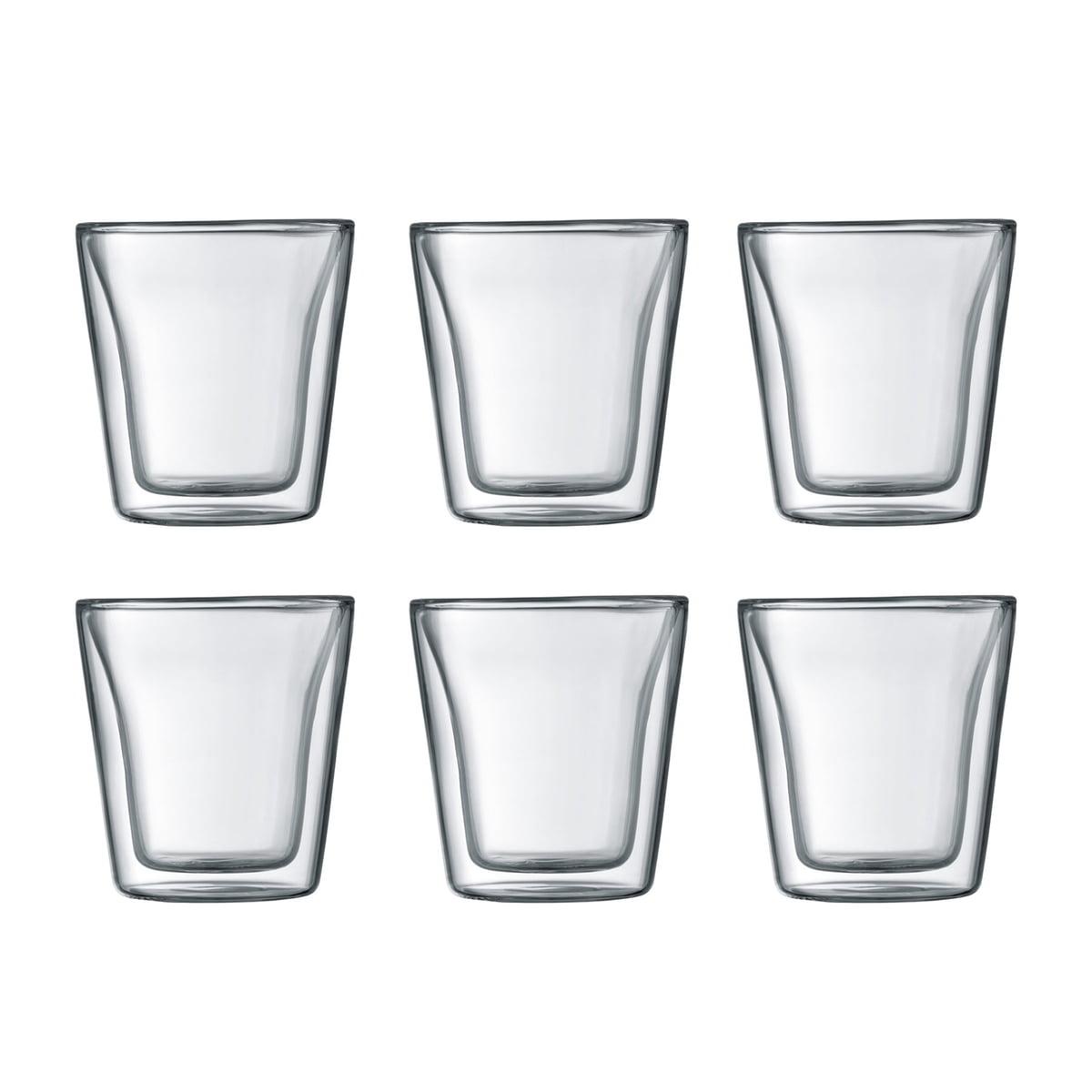 Bodum - Canteen Glas, doppelwandig, 0,1 l, transparent (6er-Set) | Küche und Esszimmer > Besteck und Geschirr > Gläser | Bodum