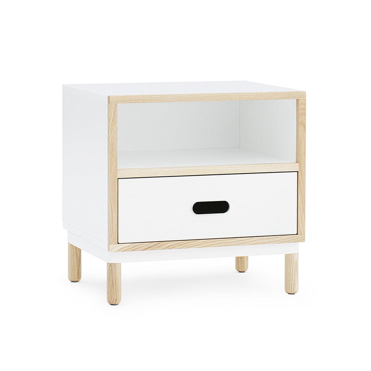 Normann Copenhagen - Kabino Nachttisch, weiß | Schlafzimmer > Nachttische | Weiß | Normann Copenhagen