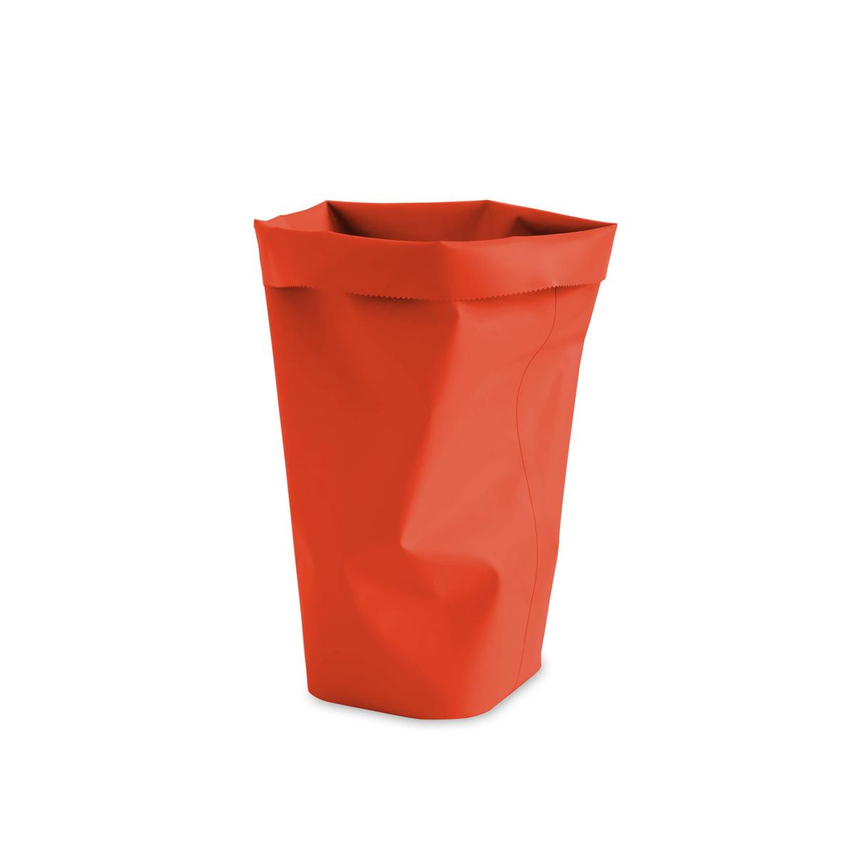 L&Z - Roll-Up Papierkorb M, blutorange | Büro | Blutorange | Tpu (100 % pvc-frei) | L&Z