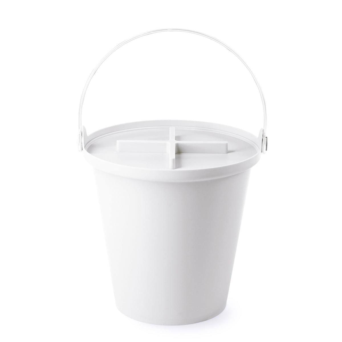 Authentics - H2O Eimer + Deckel, weiß / weiß | Küche und Esszimmer > Küchen-Zubehör > Mülleimer | Weiß | Polypropylen -  metall | authentics