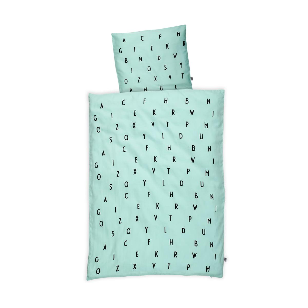 Design Letters - AJ Babybettwäsche, mint   Kinderzimmer > Textilien für Kinder > Kinderbettwäsche   Design Letters