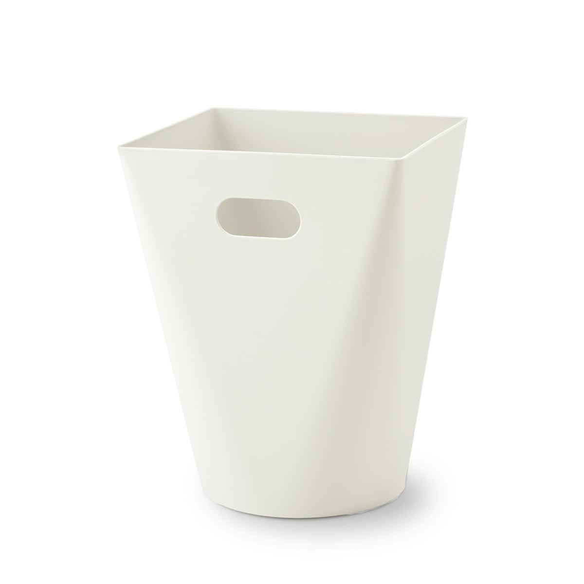 Authentics - Square Midi Papierkorb, weiß | Büro > Papierkörbe | Weiß | Polypropylen | authentics