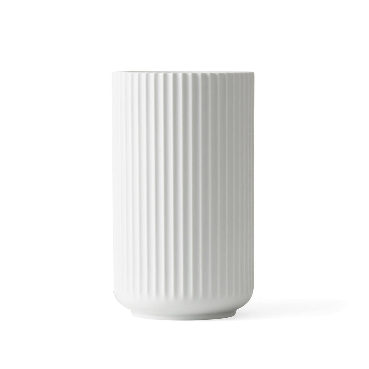Lyngby porcelan lyngbyvase weiss matt h 20 cm freisteller