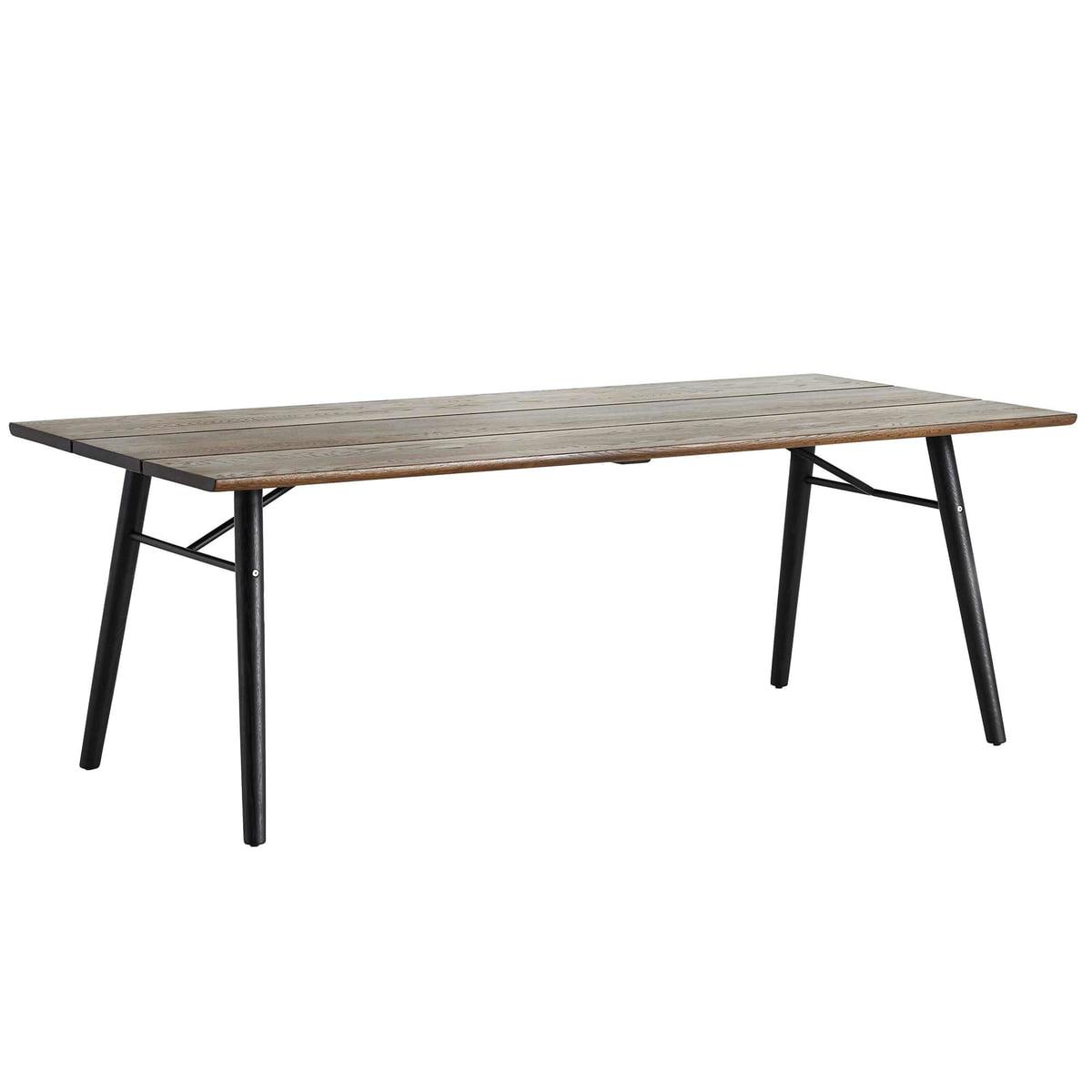 Woud split dining table eiche geraeuchert schwarz frei