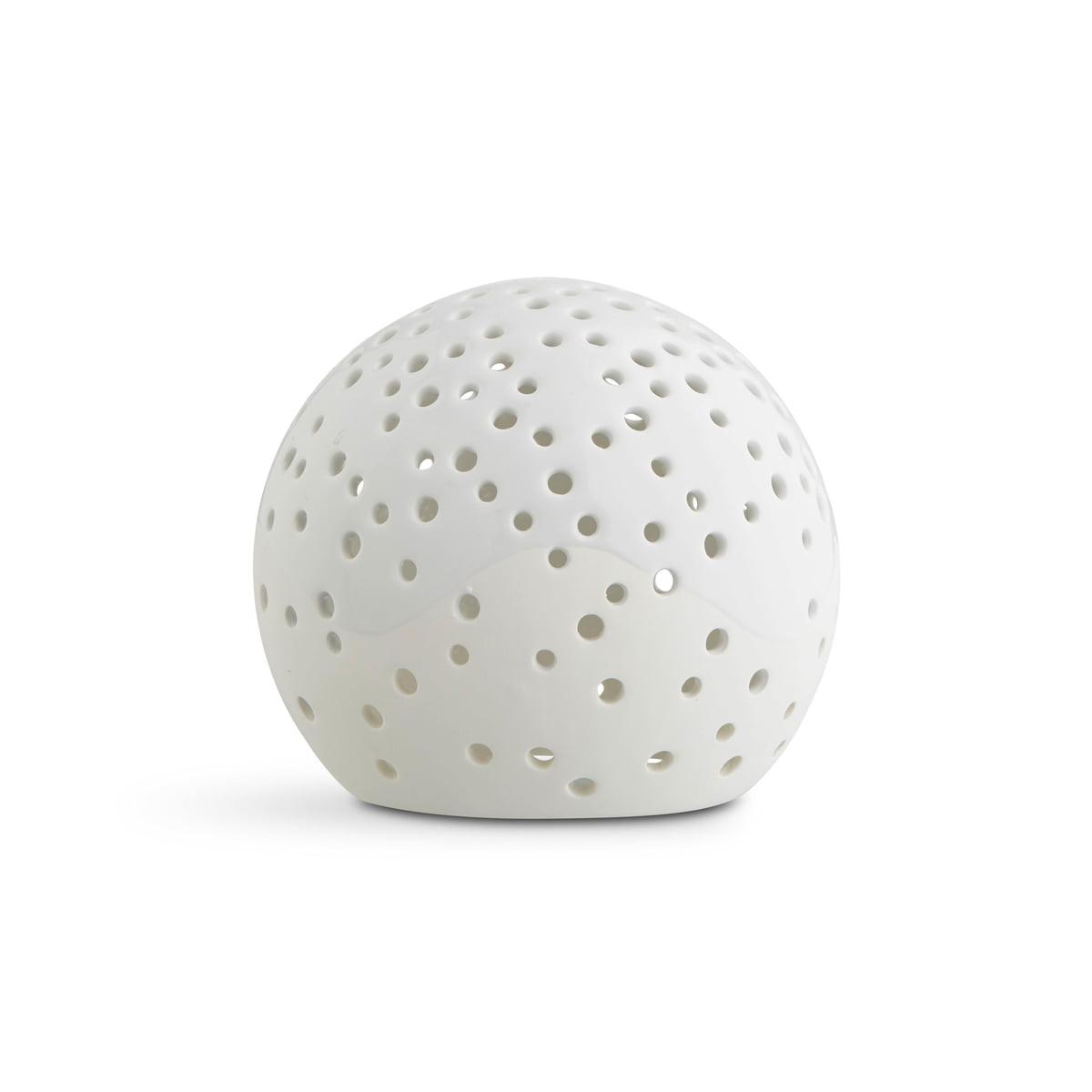 Kähler Design - Nobili Teelichtleuchter Kugel Ø 14 cm, weiß | Dekoration > Kerzen und Kerzenständer > Teelichter | Schneeweiß | Keramik | Kähler Design