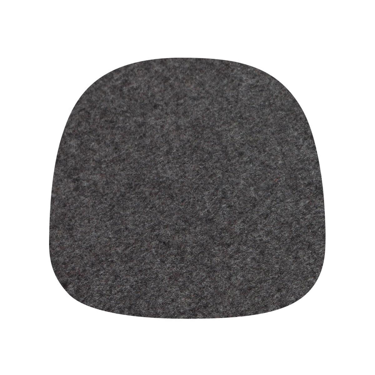Hey Sign - Filz-Auflage für About A Chair, 5 mm ohne AR, graphit | Heimtextilien > Decken und Kissen > Kissen | Bordeauxrot | Hey Sign
