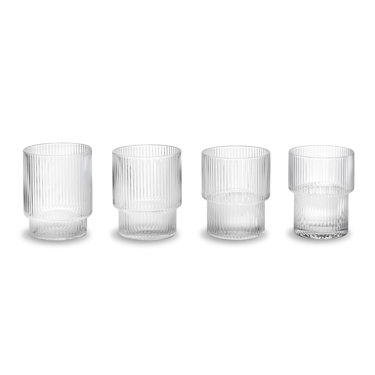 ferm Living - Ripple Gläser, klar (4er-Set) | Küche und Esszimmer > Besteck und Geschirr > Gläser | ferm living