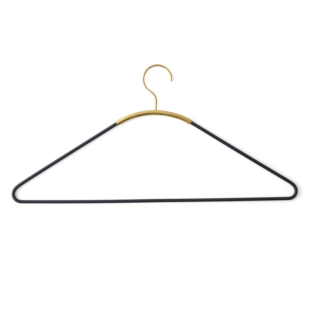 Menu - Ava Kleiderbügel, schwarz / Messing | Flur & Diele > Garderoben > Kleiderbügel | Messing | Stahl -  pulverbeschichtet| messing | Menu