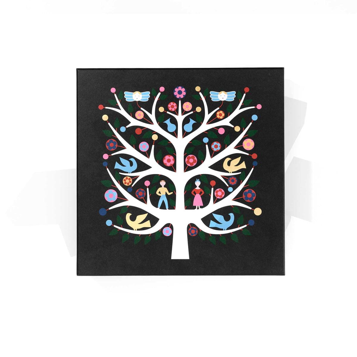 Vitra graphic boxes tree of life schwarz baum frei