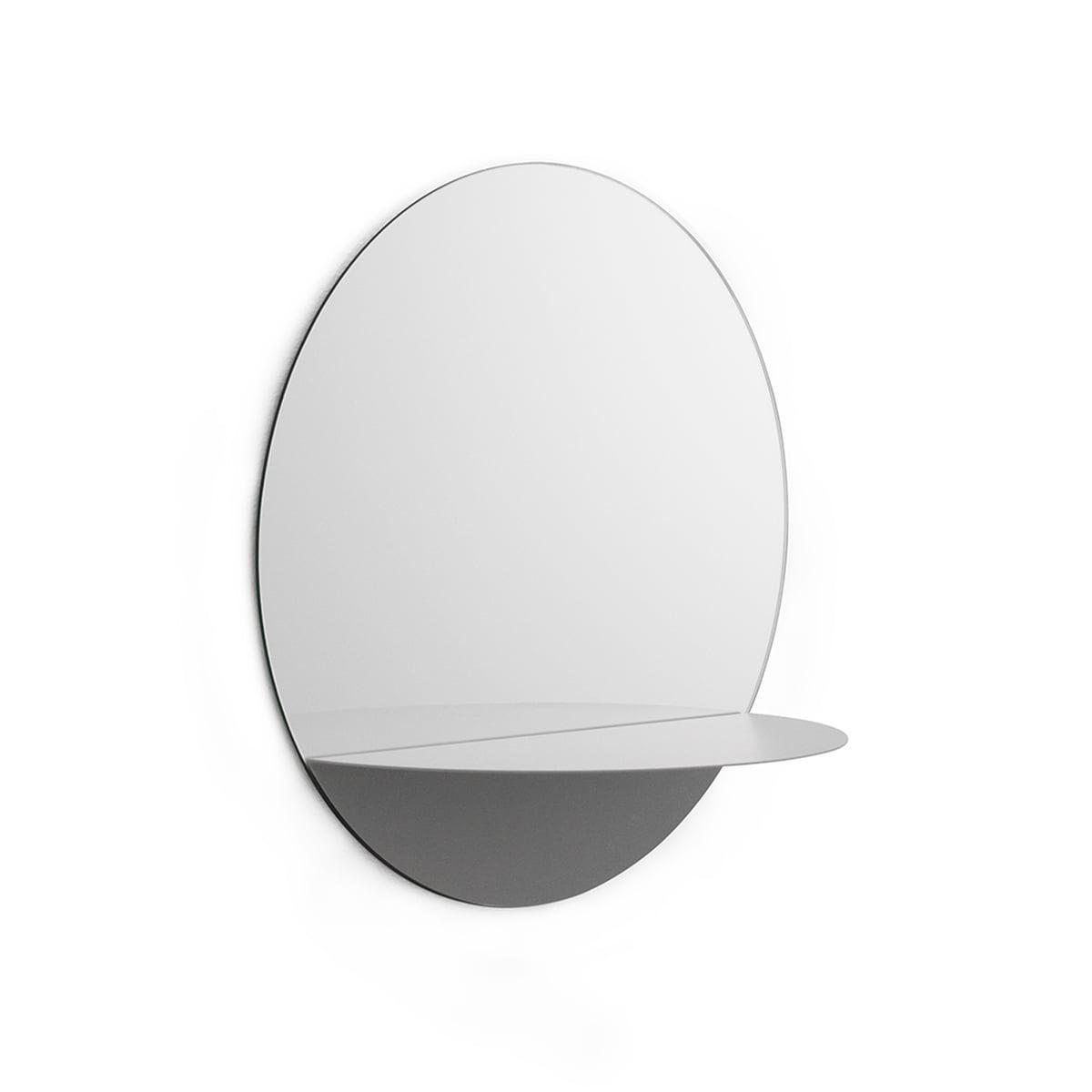 Normann copenhagen horizon spiegel rund grau