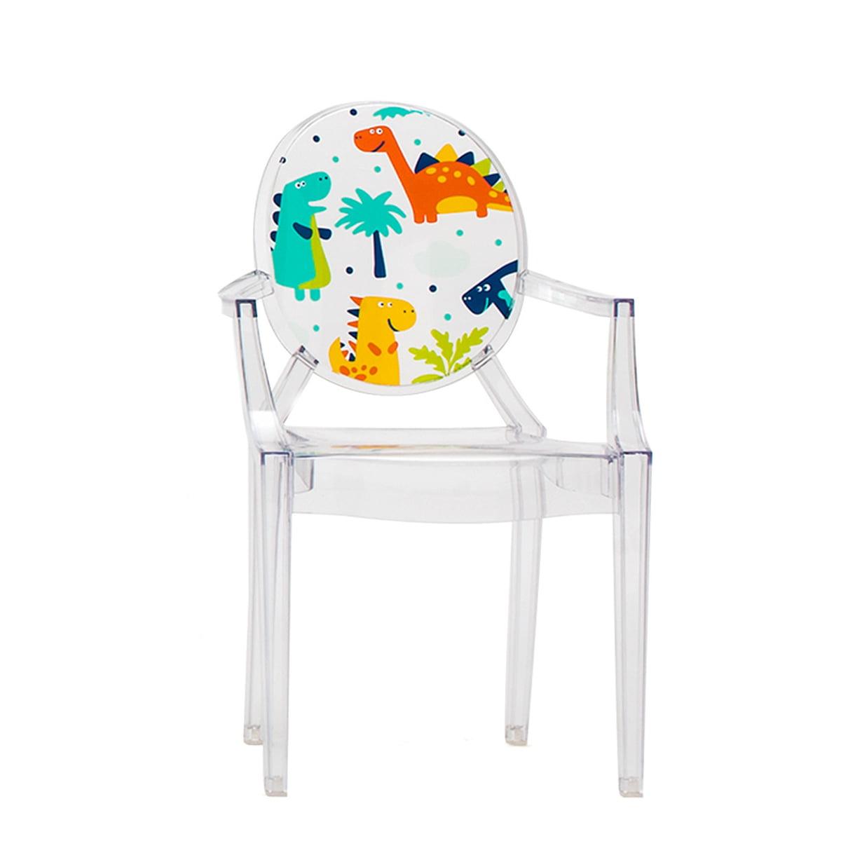 Kartell - Lou Lou Ghost Kinderstuhl, transparent / Dinosaurier | Kinderzimmer > Kinderzimmerstühle > Kinderstühle | Verschiedene farben | Kartell