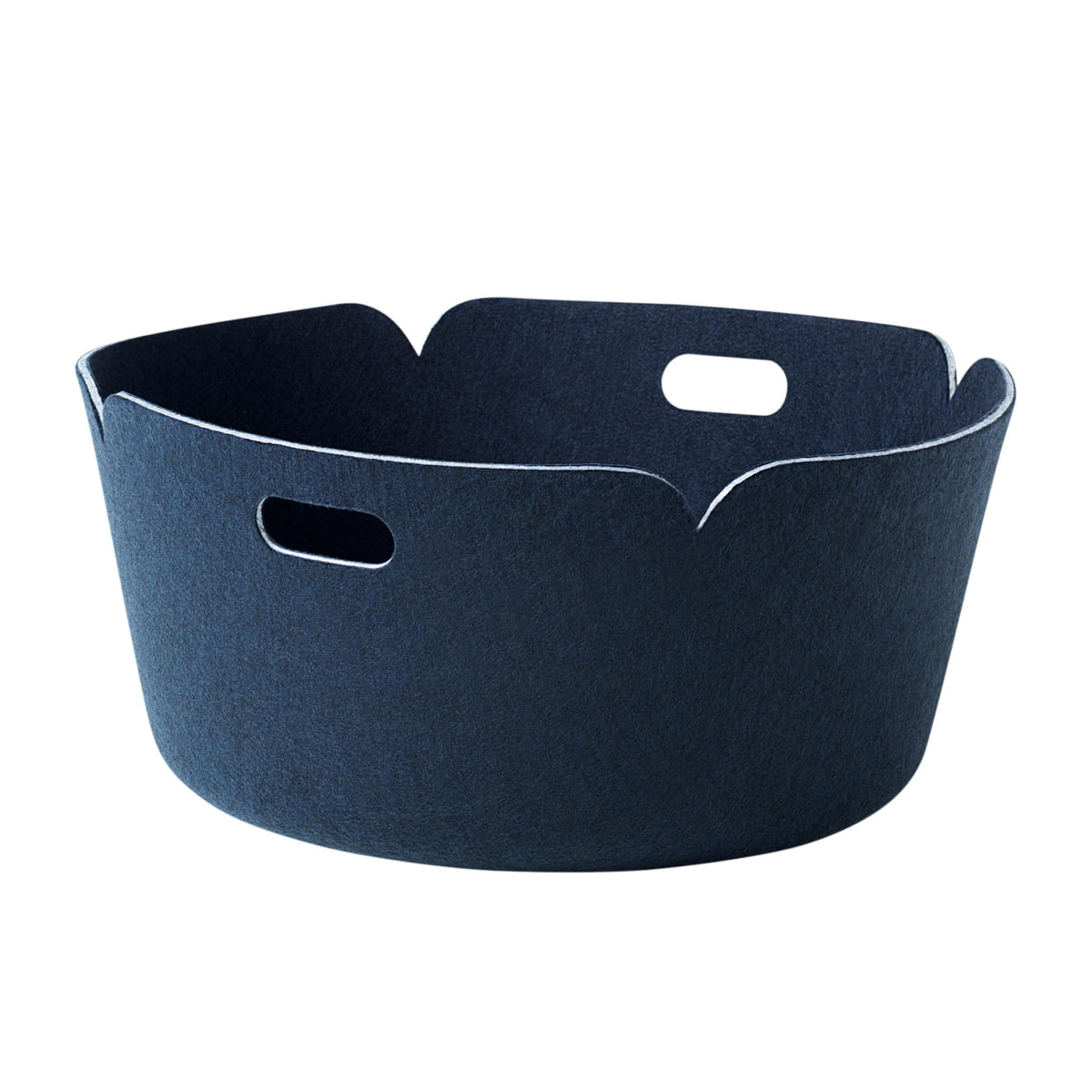 Muuto - Restore Runder Aufbewahrungskorb, midnight blue | Dekoration > Aufbewahrung und Ordnung > Korbwaren | Mitternachtsblau | Polymerfilz | Muuto