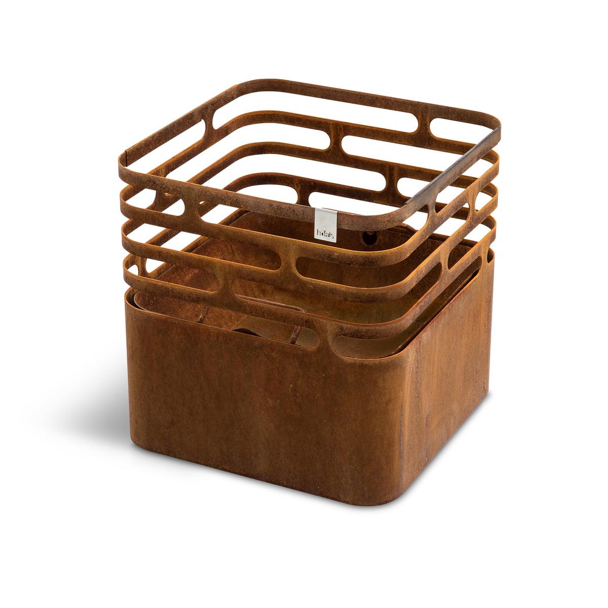 höfats - Cube Feuerkorb, Rostoptik | Garten > Grill und Zubehör > Feürstellen | Rostbraun | Korpus: stahl pulverbeschichtet -  feuerschale: edelstahl | Höfats