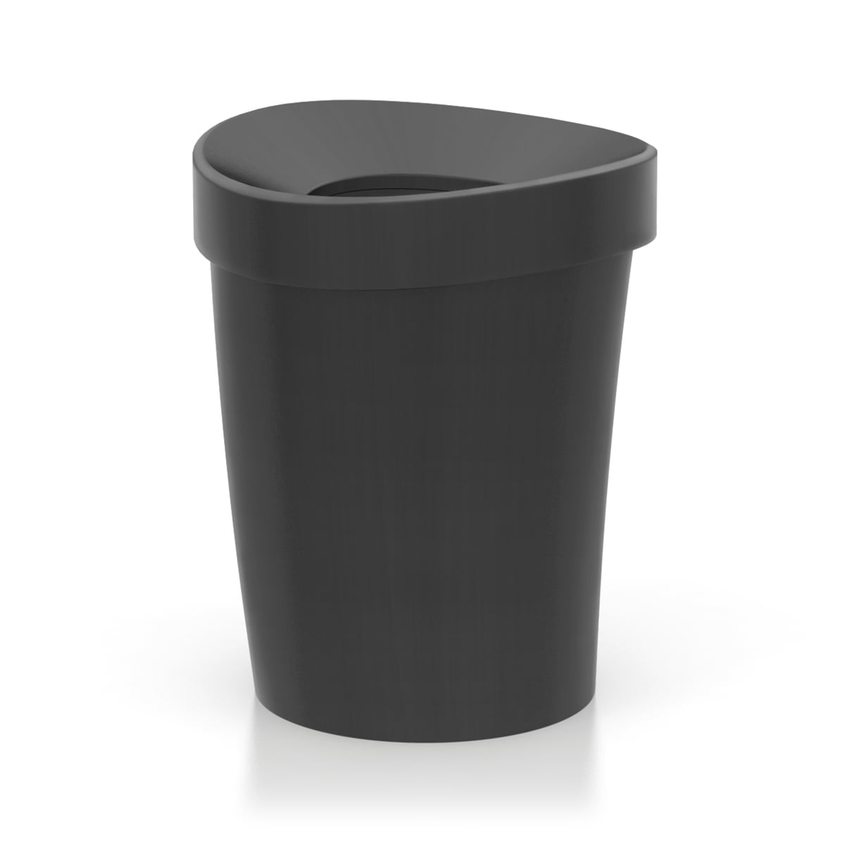 Vitra - Happy Bin Papierkorb, large, basic dark | Büro > Papierkörbe | Schwarz | Vitra