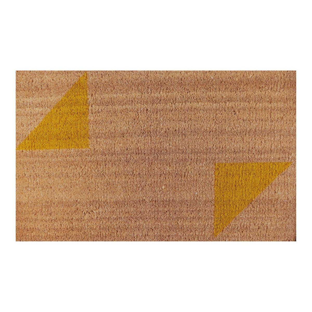 Ruckstuhl - Fußmatte, Dreieck-Muster gelb | Heimtextilien > Fussmatten | Gelb | Ruckstuhl