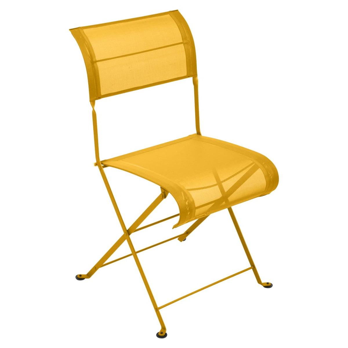 Fermob - Dune Klappstuhl, honig | Küche und Esszimmer > Stühle und Hocker > Klappstühle | Honiggelb | Stahlrahmen -  sitzfläche und rückenlehne aus unzerreißbarem technischem outdoorgewebe | fermob