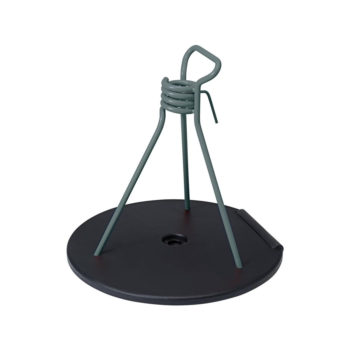 Fermob - Zébulon Schirmständer, gewittergrau | Garten > Sonnenschirme und Markisen > Sonnenschirmständer | Gewittergrau | Sockel aus schwarzem gusseisen und stahldraht -  polypropylengleiter | fermob