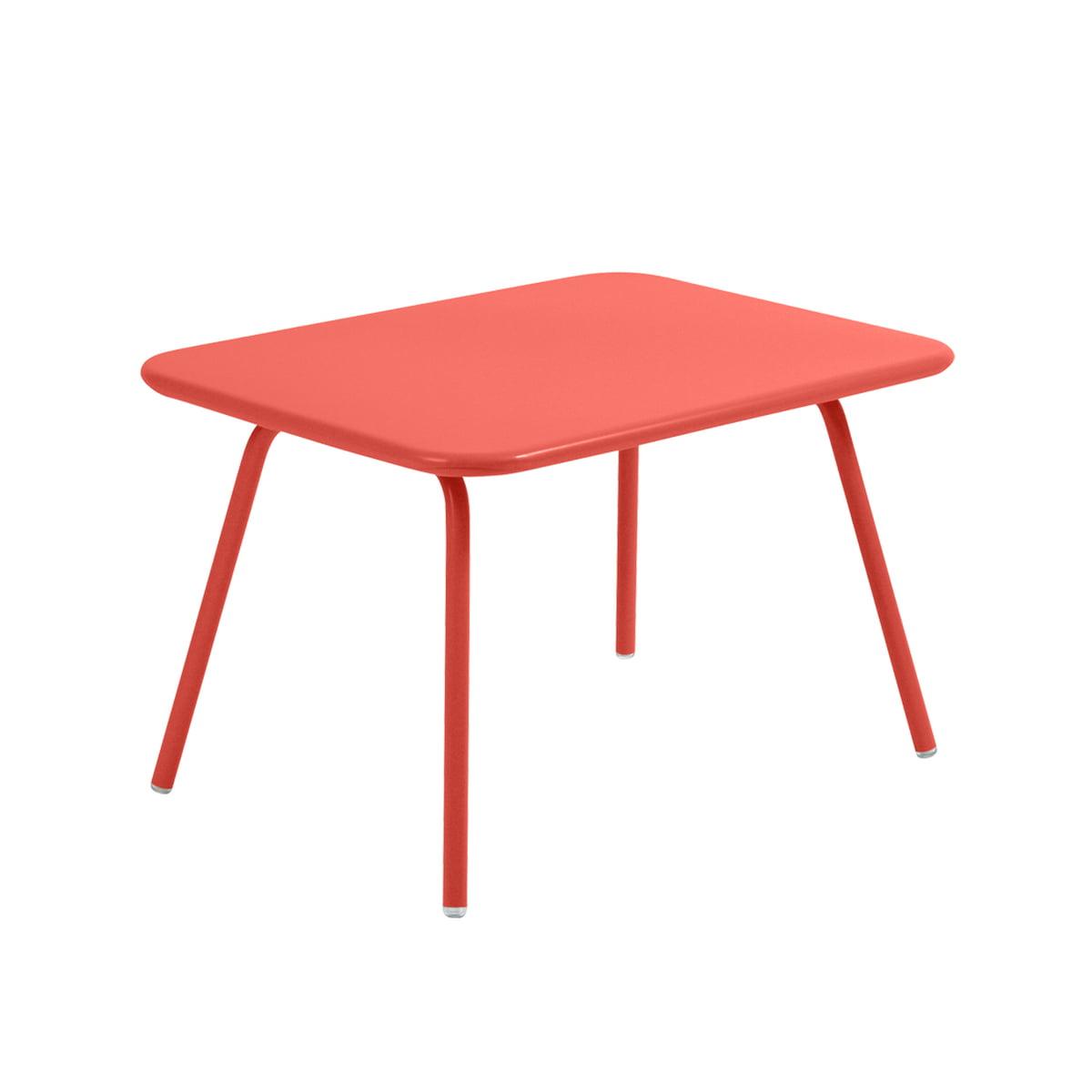 Fermob - Luxembourg Kid Kindertisch, capucine | Kinderzimmer > Kindertische > Spieltische | Rotorange | Stahlrohr -  stahlblech | fermob