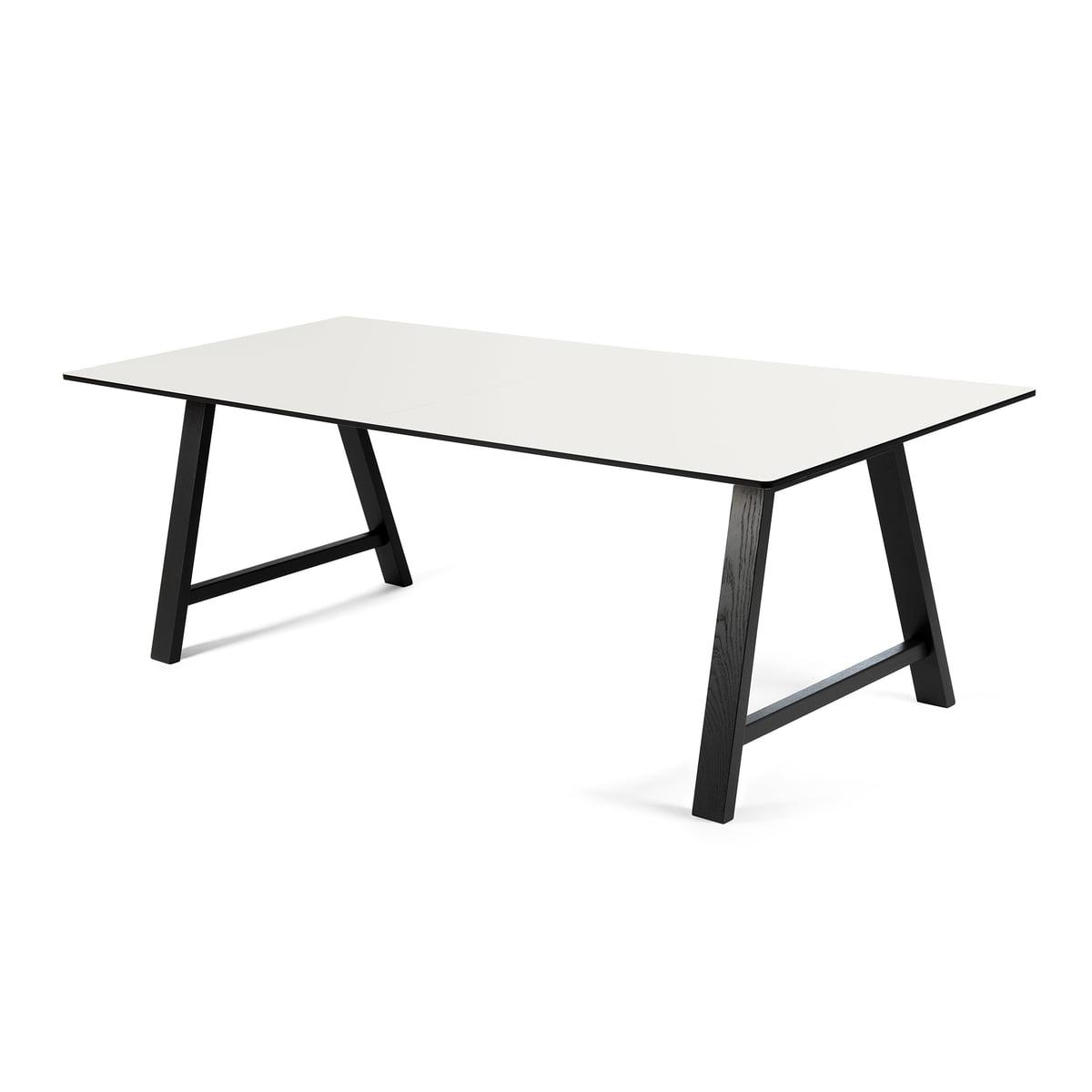 Andersen Furniture - T1 Ausziehtisch 180cm, Eiche schwarz / Laminat weiß | Baumarkt > Bodenbeläge | Weiß | Andersen Furniture