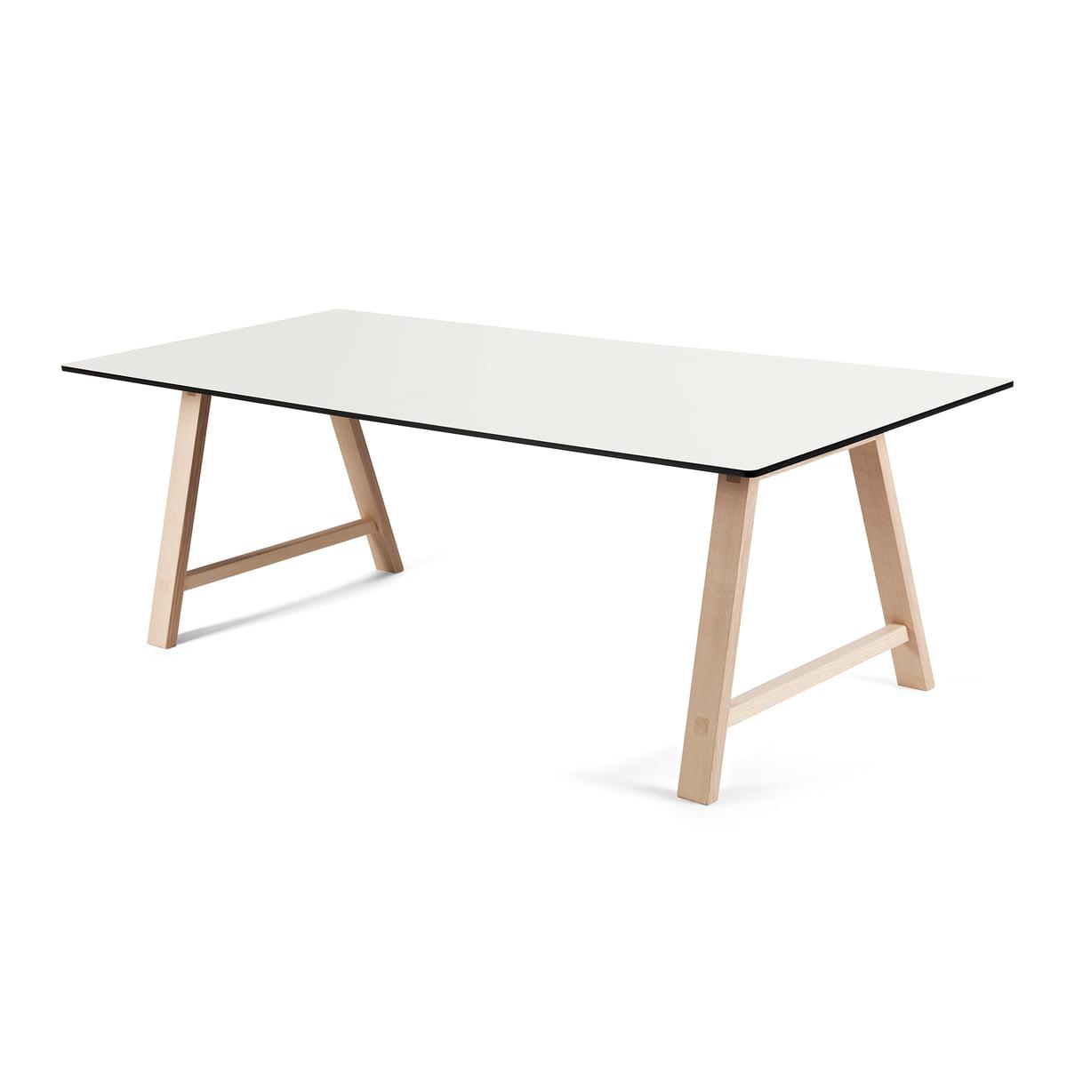 Andersen Furniture - T1 Ausziehtisch 180cm, Eiche geseift / Laminat weiß   Baumarkt > Bodenbeläge > Laminat   Weiß   Andersen Furniture
