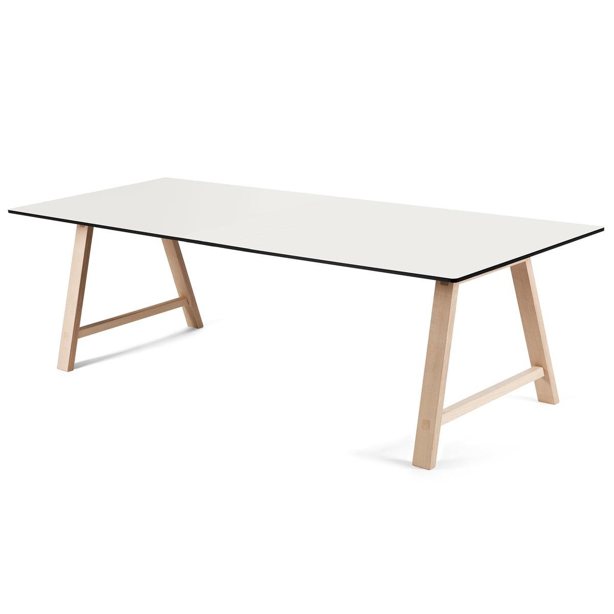 Andersen Furniture - T1 Ausziehtisch 220 cm, Eiche geseift / Laminat weiß   Baumarkt > Bodenbeläge   Weiß   Andersen Furniture