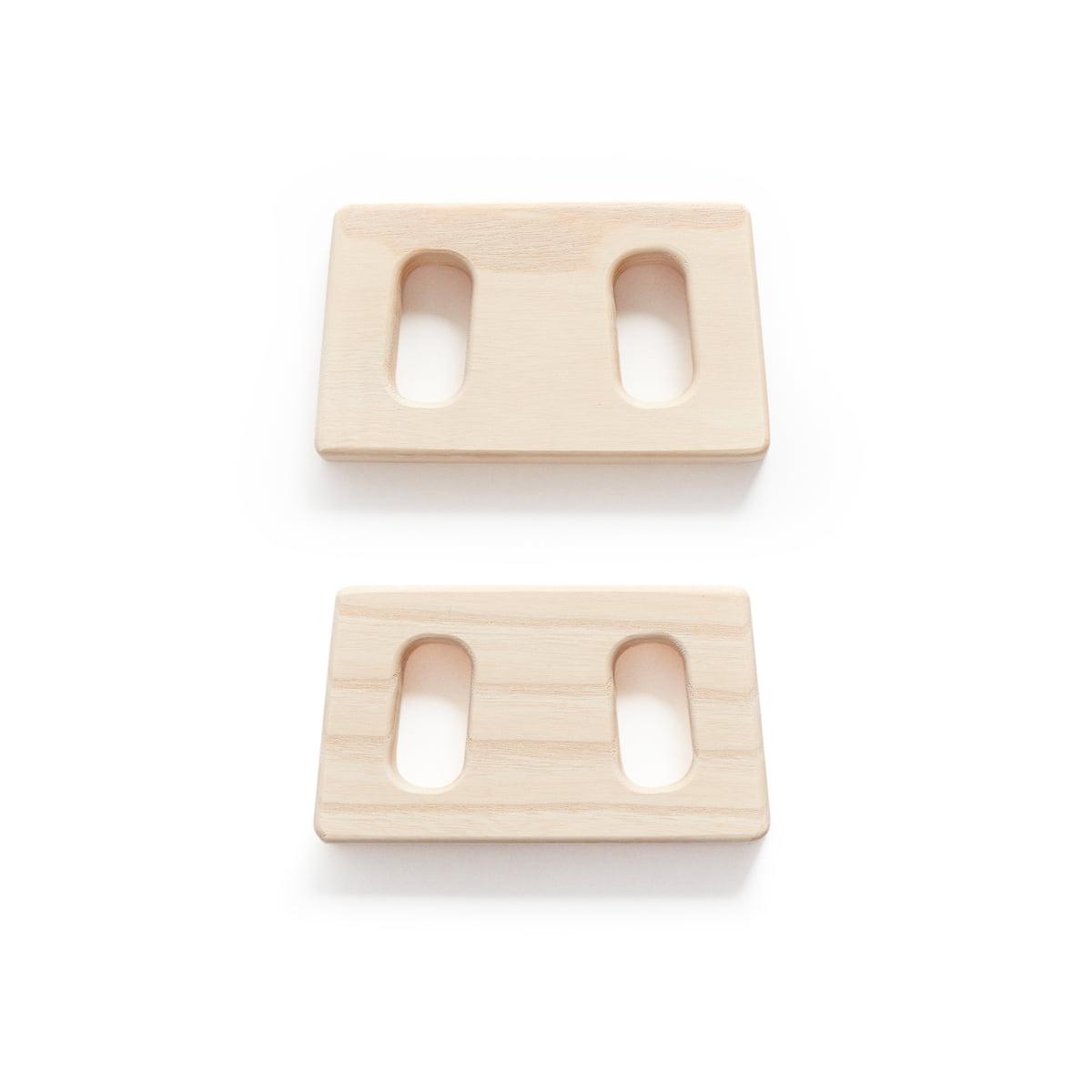 Andersen Furniture - Verbindungsstücke zum Kleiderständer, Esche (2er-Set) | Flur & Diele > Garderoben > Garderobenständer | Esche natur | Eschenholz | Andersen Furniture