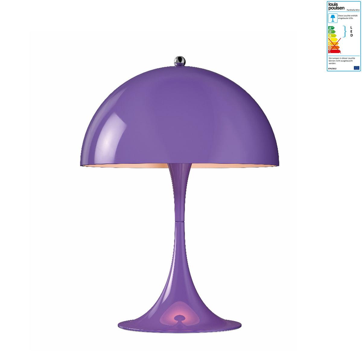 Louis Poulsen - Panthella Mini Tischleuchte, Ø 250, violet | Lampen > Tischleuchten | Lila | Schirm: stahl pulverlackiert | Louis Poulsen