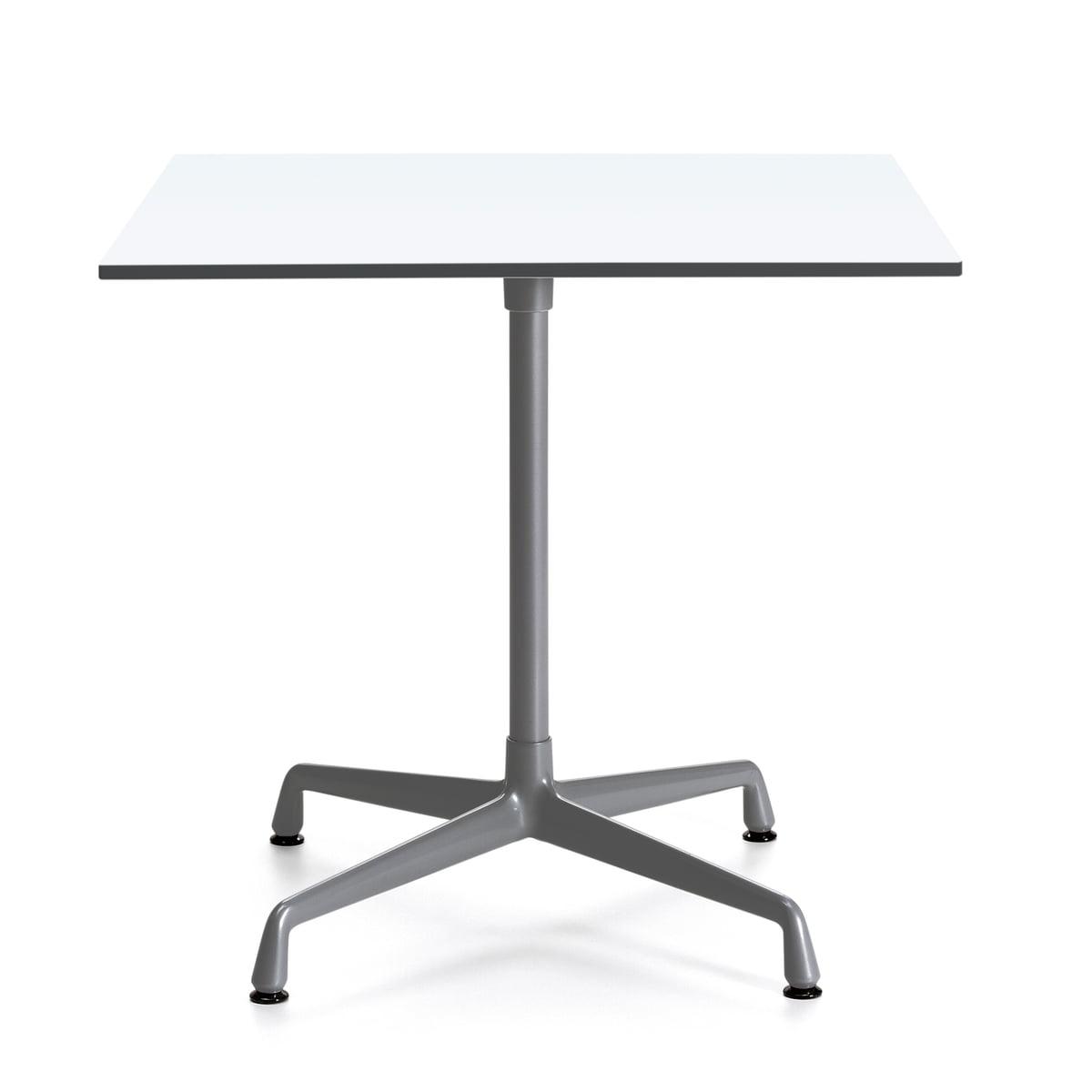 Vitra - Contract Bistrotisch Outdoor quadratisch, dunkelgrau / weiß | Küche und Esszimmer > Bar-Möbel > Bar-Stehtische | Weiß | Gestell: aluminium-druckguss und stahlrohr -  komplett pulverbeschichtet -  tischplatte: vollkernmaterial | Vitra