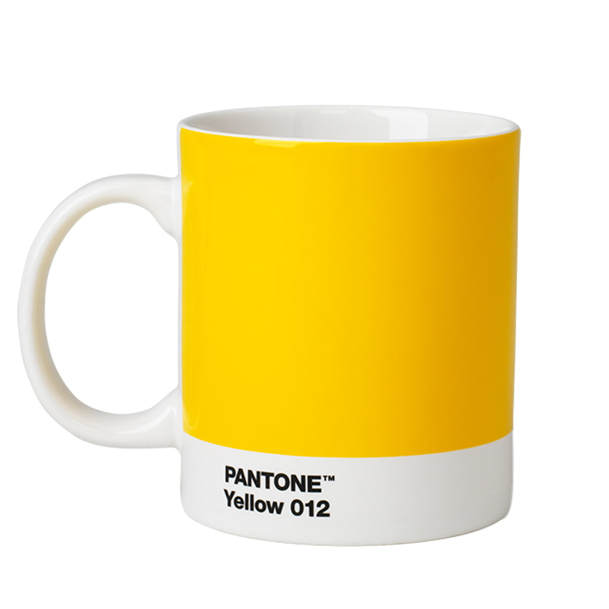 Pantone universe becher yellow 012 frei