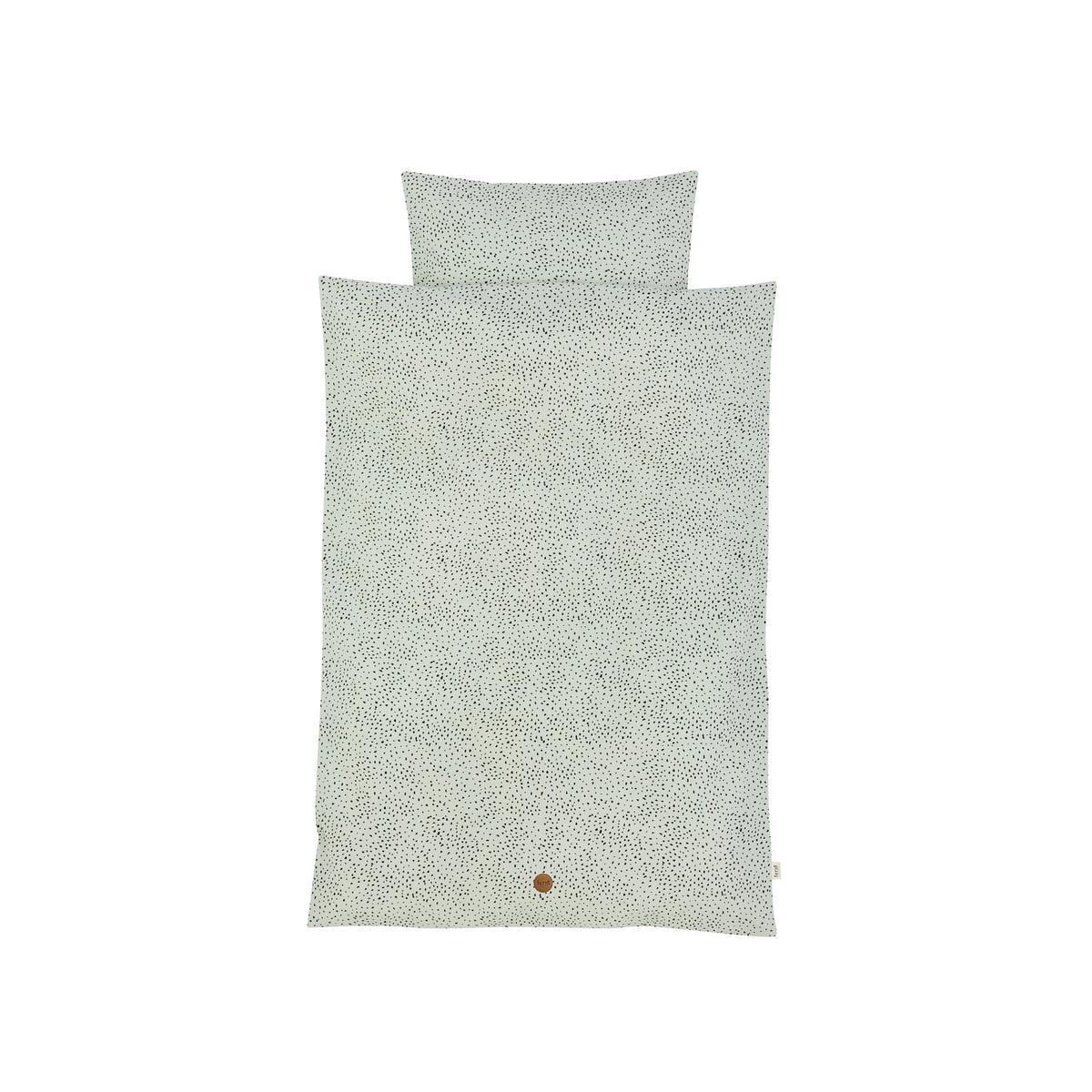 ferm Living - Dot Baby-Bettwäsche 70 x 100 cm, mintgrün   Kinderzimmer > Textilien für Kinder > Kinderbettwäsche   Mintgrün   ferm living