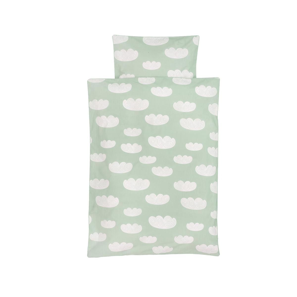 ferm Living - Cloud Baby-Bettwäsche, mint   Kinderzimmer > Textilien für Kinder > Kinderbettwäsche   Mintgrün   ferm living