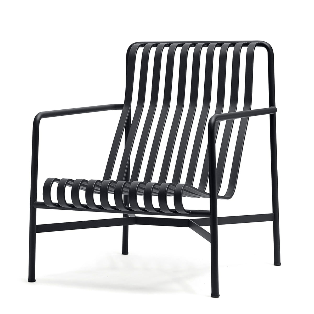 Hay - Palissade Lounge Chair High, anthrazit | Wohnzimmer > Sessel > Loungesessel | Anthrazit | Hay