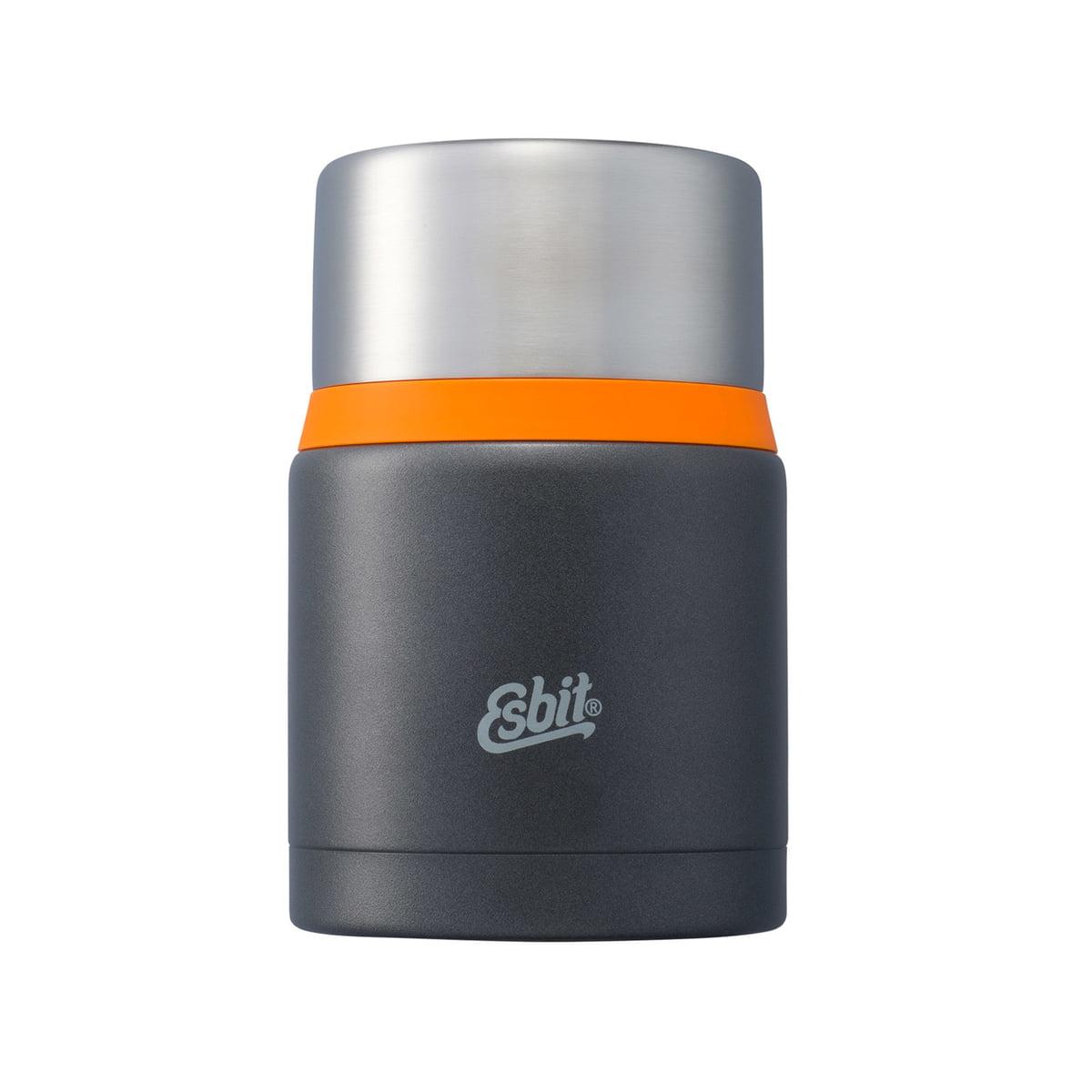 Esbit - Thermobehälter \´´Food\´´´´, 750 ml, dunkelgrau / orange´´ | Küche und Esszimmer > Aufbewahrung > Vorratsdosen | Schwarz | Edelstahl | Esbit