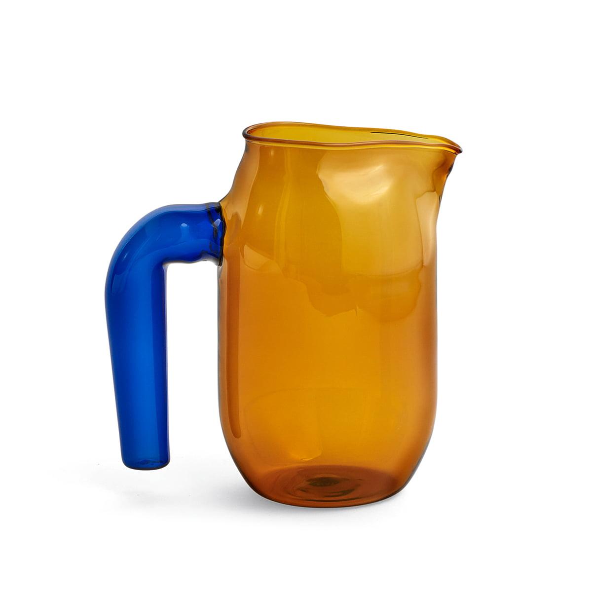 Hay - Glaskrug small, H 16,5 cm, bernstein | Küche und Esszimmer > Besteck und Geschirr > Karaffen | Verschiedene farben | Hay