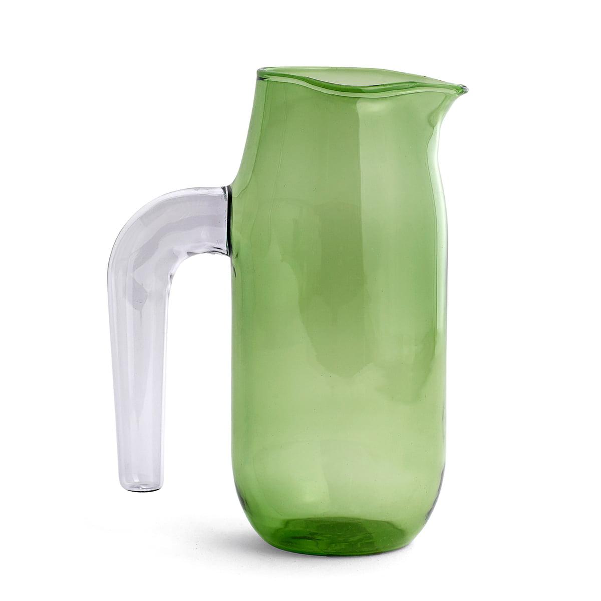 Hay glaskrug large h 20 5 cm gruen