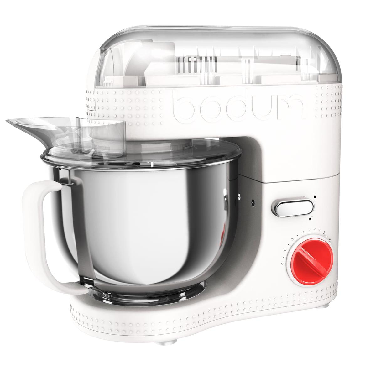 Bodum - Bistro elektrische Küchenmaschine 4,7 l, weiß | Küche und Esszimmer > Küchengeräte | Weiß | Kunststoff -  gummi -  edelstahl | Bodum