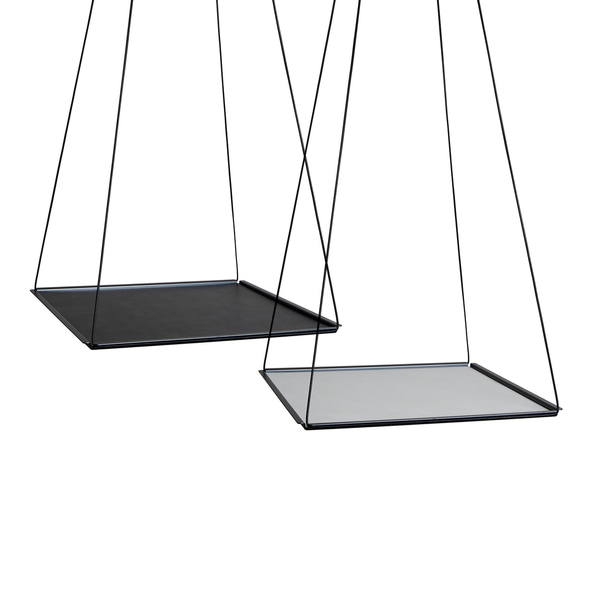 Linddna pendulum square l 36x36 cm stahl schwarz double cloud schwarz nupo metallic frei
