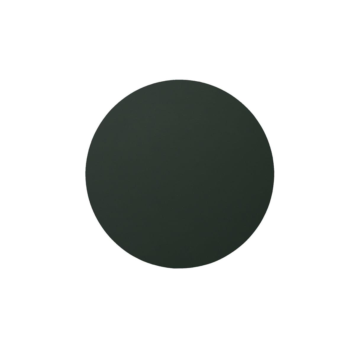 LIND DNA LindDNA - Glasuntersetzer circle Ø 10 cm, Softbuck dunkelgrün | Küche und Esszimmer > Küchen-Zubehör > Halter und Haken | Dunkelgrün | Recyceltes leder | LIND DNA