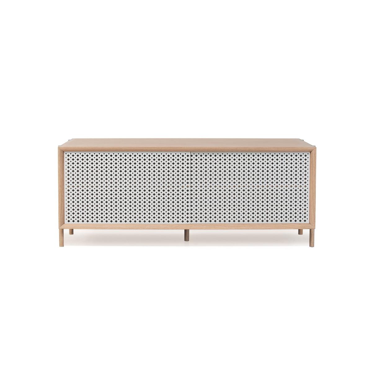Harto gabin sideboard 122 cm lichtgrau beine eiche