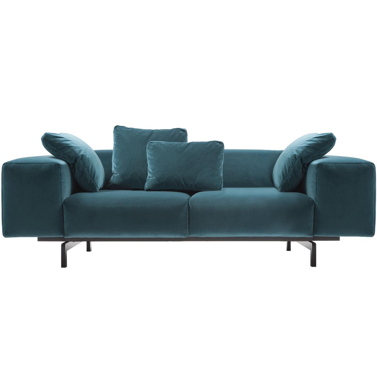 Kartell largo velluto 2 sitzer sofa blaugruen 53 frei