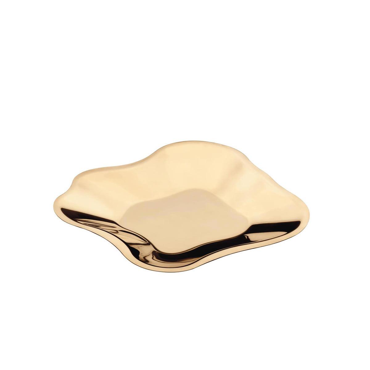 Iittala aalto schale flach rose gold 358 mm