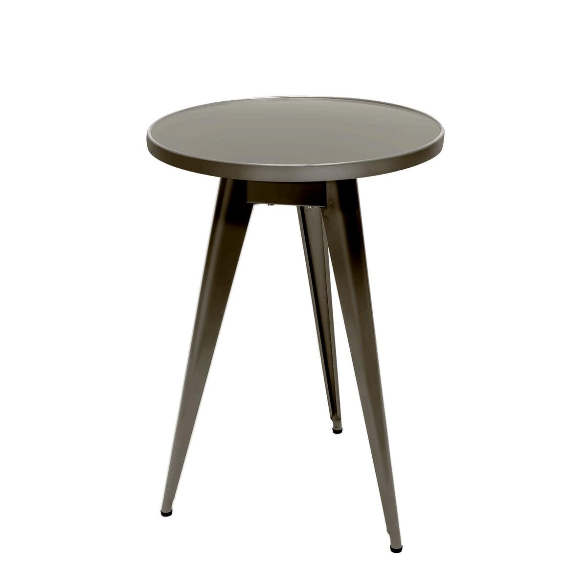 Tolix - Bistrotisch 55, Ø 51 cm, Stahl grau lasiert | Küche und Esszimmer > Bar-Möbel > Bar-Stehtische | Stahlgrau | Stahl | Tolix