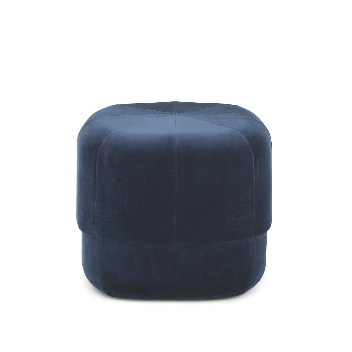 Normann copenhagen circus pouf small dark blue velour