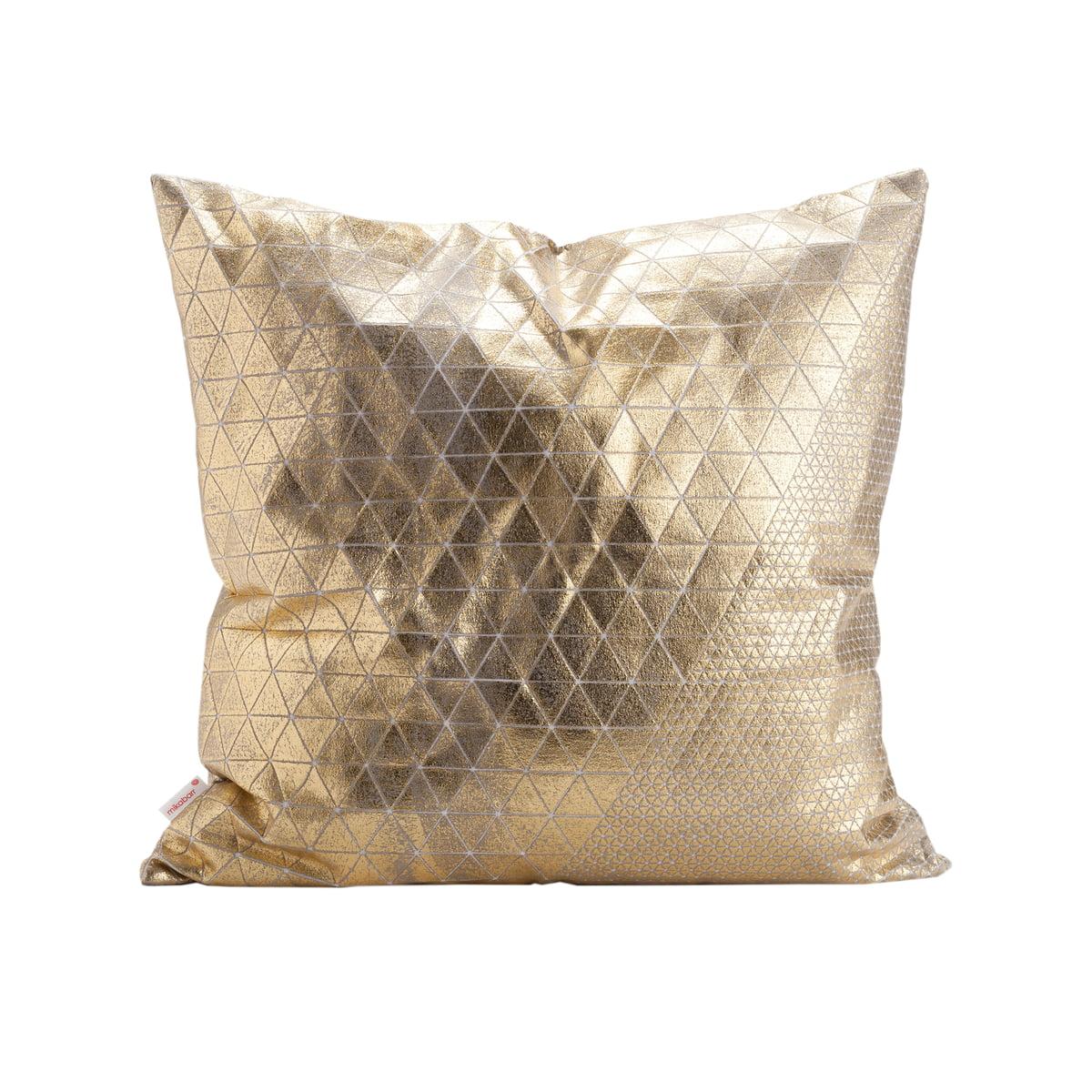 Mika barr bling kissenbezug 50x50 cm gold grau freisteller