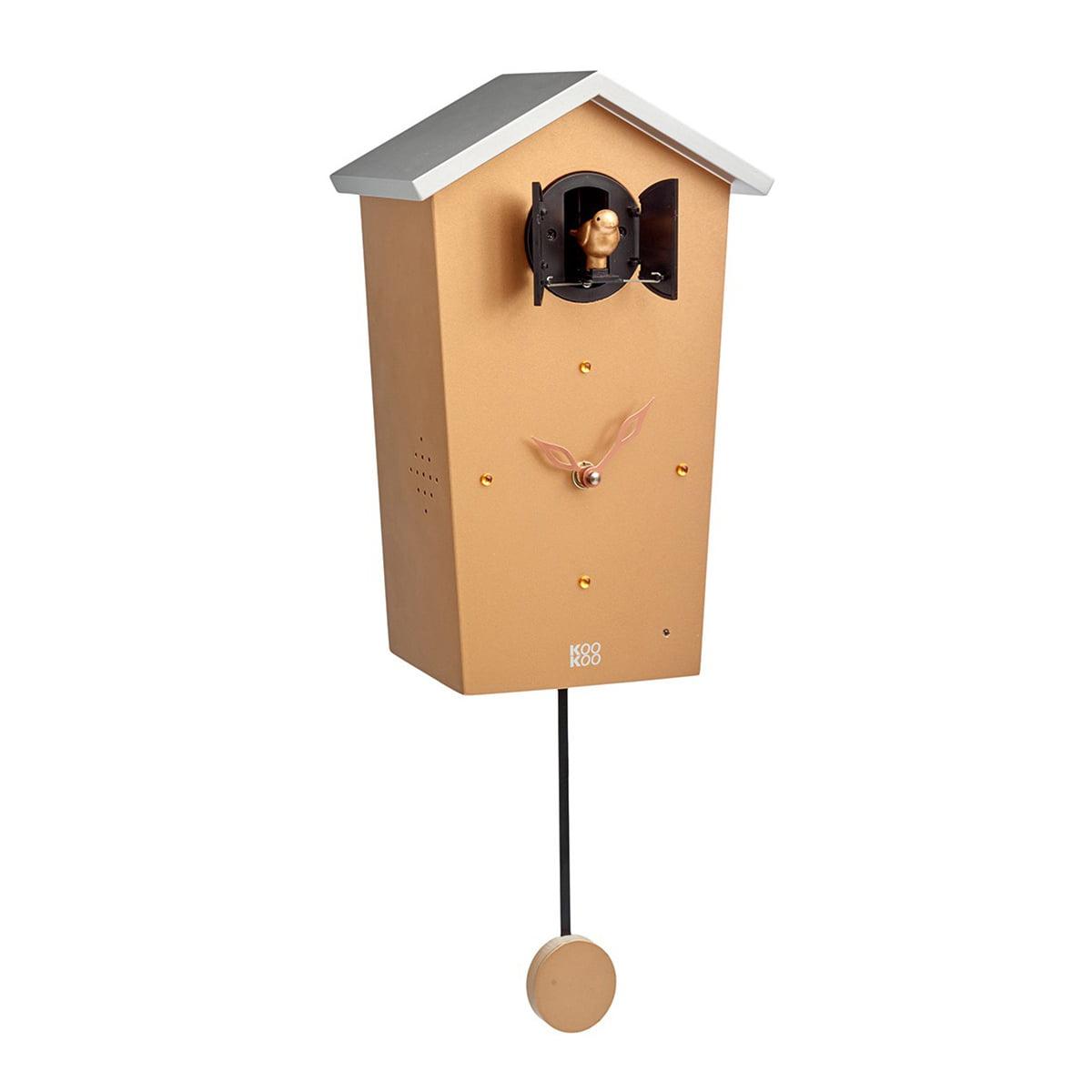 KooKoo - Bird House Kuckucksuhr, gold (Limited Edition) | Dekoration > Uhren > Kuckucksuhren | Gold | Mdf holz | KooKoo